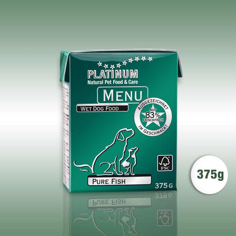 PLATINUM MENU Pure Fish / Tiszta hal konzerv nedvestáp kutyáknak