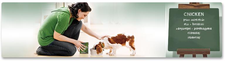 MENU Chicken nedves kutyatáp összetevők