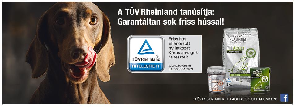TÜV Rheinland tanúsítja: Garantáltan sok friss hússal!
