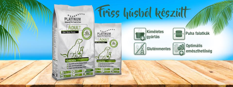 PLATINUM Prémium kutyatápok - Adult Chicken száraz kutyatáp