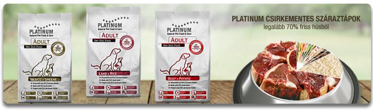 csirkementes PLATINUM kutyatápok