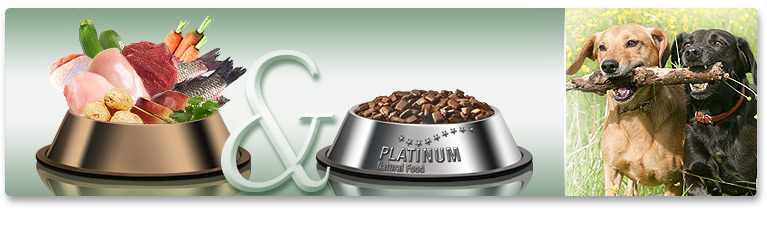 """PLATINUM állateledelek, mint a """"BARF"""" étrend kiegészítői vagy alternatívái"""