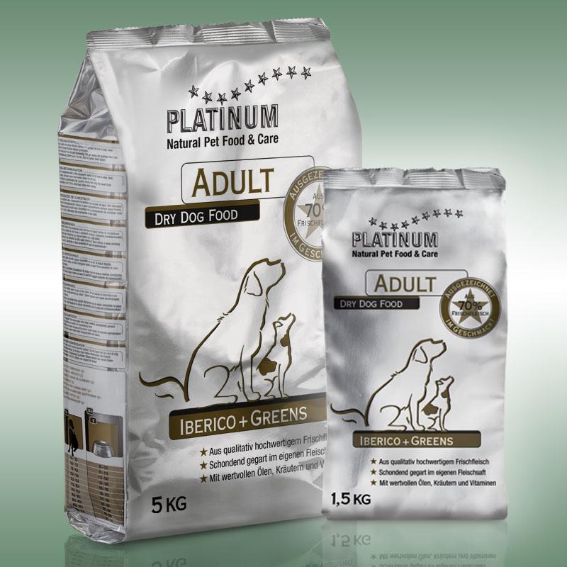 Adult Iberico+Greens kutyatáp ibériai sertéssel